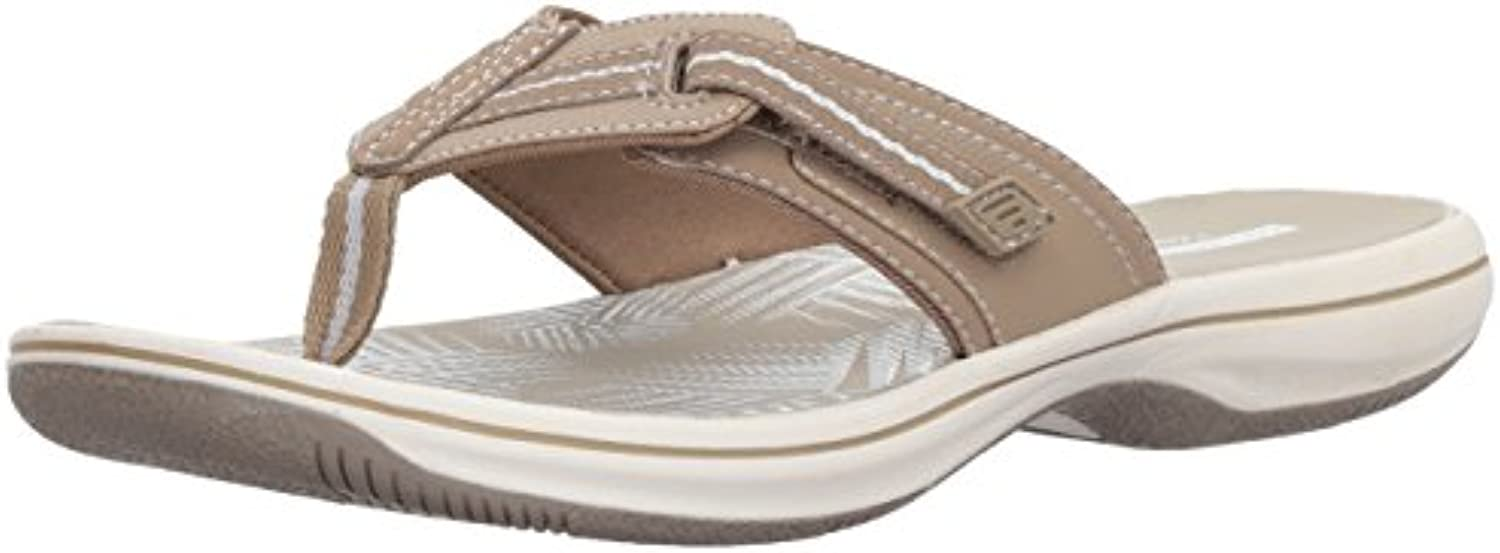 Clarks Wouomo Brinkley Jazz Flip-Flop, Sand Synthetic, 8 Medium US US US | Forte calore e resistenza all'abrasione