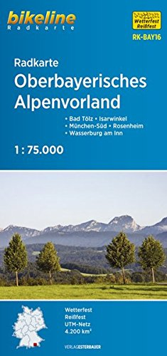Oberbayerisches Alpenvorland Cycle Map 2017