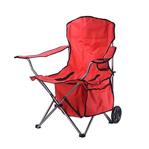 CZPF Outdoor Reise Licht Aluminium Klapprad Ice Pack Sessel Strand Mittagspause Stuhl Tragbare Angelstuhl
