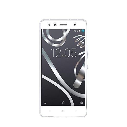 BQ Aquaris X5 Smartphone 5 WiFi 16GB, Qualcomm Snapdragon 412 Quad Core MSM8916T, 2GB RAM, Android 5.1, Weiss/Grau (Zertifiziert und Generalüberholt)