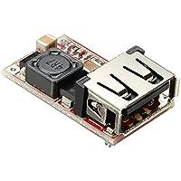 Ils - DC-DC Buck Módulo 6-24V 12V/24V a 5V 3A USB Bajada Cargador de Alimentación Eficiencia 97,5%