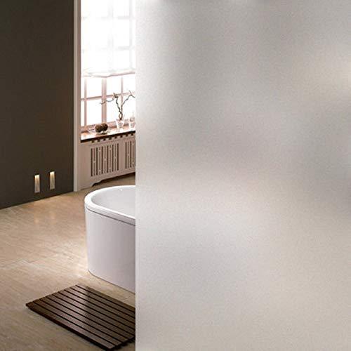 LifeTree Film Fenêtre Anti Regard Electrostatique Adhésif Occultant Intimité Film Vitrage Verre Dépoli Givré Décoratif pour Salle de bain Maison Cuisine Bureau (90 x 200 cm), Transparent