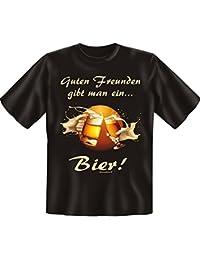 Guten Freunden gibt man auch ein Bier - Sprüche Fun T-Shirt - Biertrinker - : )