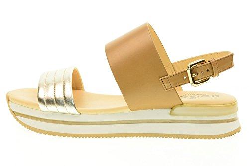 HOGAN scarpe donna sandali HXW2570X750G6I657M H257 FASCIA Biscotto