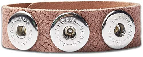 NOOSA-Amsterdam ORIGINAL Armband SNAKE CLASSIC pink Größe M