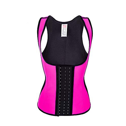 Frauen Taille Trainer Korsett Weste Sport Body Shaper Workout Korsett Unterbrust Cincher Bauch,Rosa,XL -