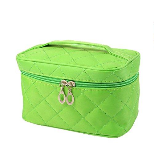 Susenstone Plaid Case de Pure Color Cosmetic Bag