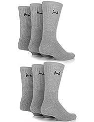 Mens 6 Pair Pringle Full Cushion Sports Socks