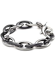 Esprit bracelet pour femme en acier inoxydable rhodié pour homme pure s.eSBR11432B210 céramique noir 21 cm