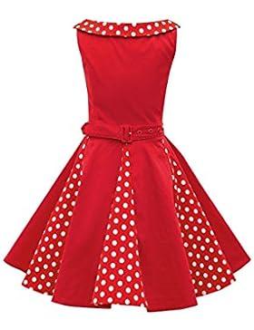BlackButterfly Kinder 'Alexia' Vintage Polka-Dots Kleid im 50er-Jahre-Stil