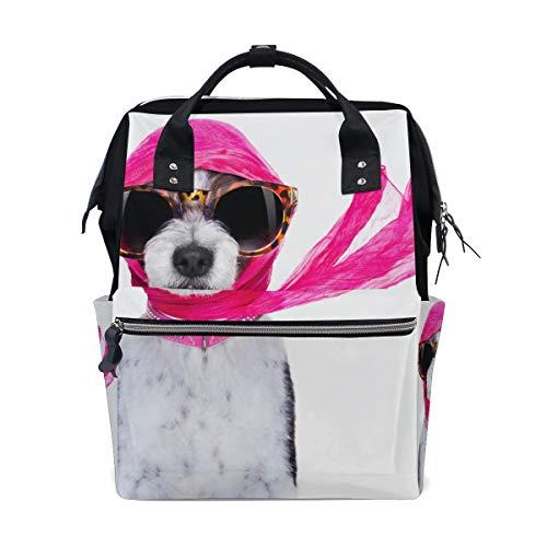 l Hund Große Kapazität Wickeltaschen Mama Rucksack Multi Funktionen Windel Pflege Tasche Tote Handtasche Für Kinder Babypflege Reise Täglichen Frauen ()