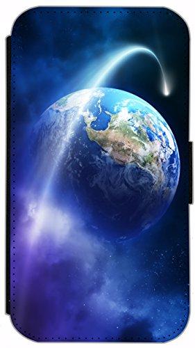 Flip Cover für Apple iPhone 4 / 4s Design 394 Eifelturm Paris Frankreich bei Nacht Blau Gelb Hülle aus Kunst-Leder Handytasche Etui Schutzhülle Case Wallet Buchflip (394) 373