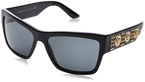 Versace 0ve4289 gb1/87 58, occhiali da sole uomo, nero (black/gray)