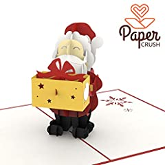 Idea Regalo - PaperCrush® - Biglietto pop-up di Babbo Natale