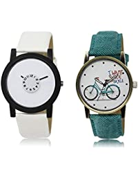 The Shopoholic White Combo New Collection White Dial Analog Watch For Boys And Girls Mens Watches Stylish