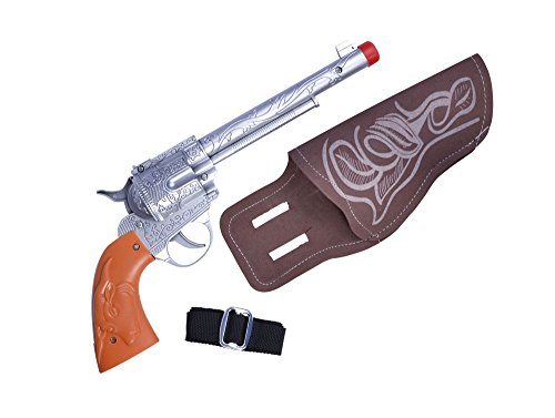 Bristol Novelty ba173 Single Cowboy Gun Plus Holster, One - Western-themen-halloween-kostüme