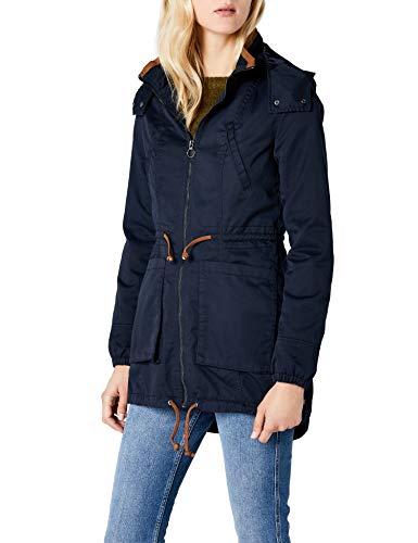 ONLY Damen Parka Onlnew OLGA Spring Coat OTW NOOS, Blau Blue Graphite, 36 (Herstellergröße: S)