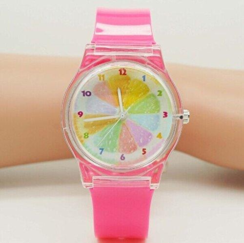 Tocoss(TM) Willis Frauen Uhren Mehrfarbenregenbogen-Entwurfs-Mode Wasserdicht Armbanduhr mit Dull polnischen Silikon-Band 0150 - Bands Invicta Silikon Watch
