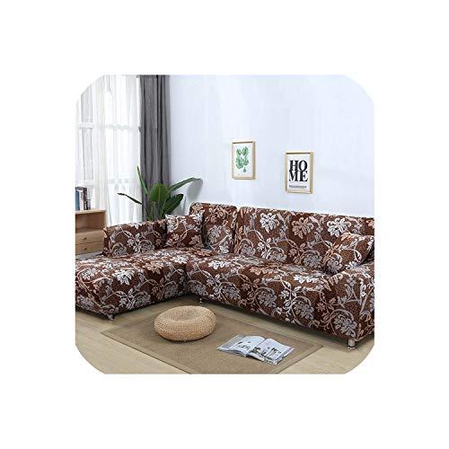 Happy Towns Sofahusse, L-förmig, elastisch, Blau, für Wohnzimmer, Copridivano Couchbezug, Sofakissenbezüge für Sessel 1-4 Sitzer, 235-300 cm