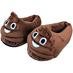 "Deseo Deluxe® QQ emoticon cartoon – Maletín de caca Smile ""Emoti"" Invierno Felpa Zapatillas de Interior Emoti caca zapatos (caca) 35 Poop"