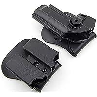 RioRand Polymer Retention Roto Holster y doble revista Holster para Beretta 96/M9 todo en uno funda