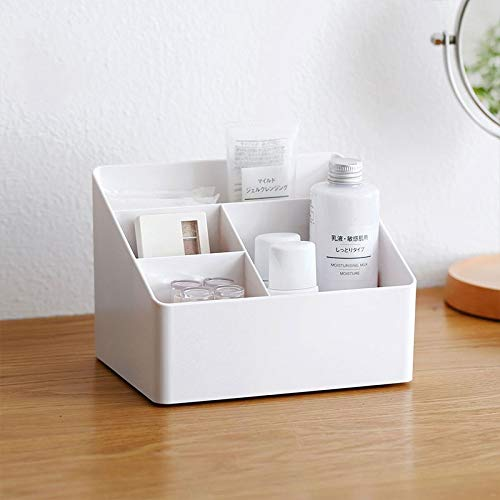 LLMM Diseños despejados Organizador de Maquillaje con cajones (Blanco)