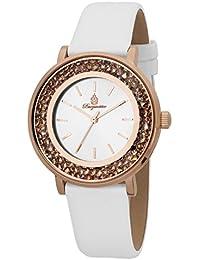 Burgmeister Armbanduhr für Damen mit Analog Anzeige, Quarz-Uhr und und Lederarmband - Wasserdichte Damenuhr mit zeitlosem, schickem Design - klassische, elegante Uhr für Frauen - BM537-316 St. Lucia