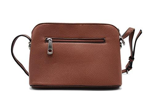 Abbino P-15011 MAXFLY Mini-Handtaschen Schultertaschen für Frauen Damen - 4 Farben - Pan Taschen Damentaschen Damenhandtaschen Klein Casual Schick Vintage Elegant Angebote Sales - One size Braun