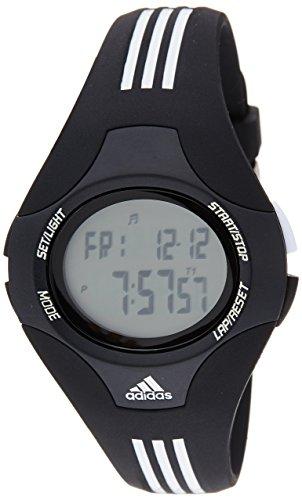 Adidas Performance - ADP6008 - Montre Homme - Quartz Digitale - Multifonctions - Bracelet en Plastique Noir et bandes Blanches