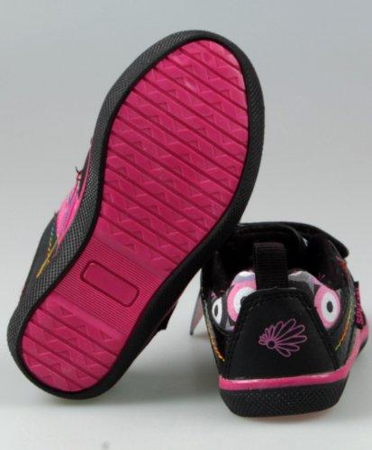 Kinder Sneaker Schuhe Mädchen Jungs Schwarz Weiß Rosa Pink Turn Sport Halbschuhe Schwarz