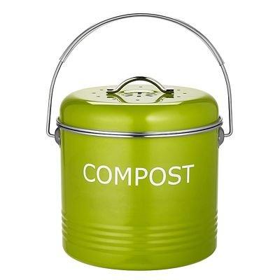 *Komposteimer für die Küchenanrichte in Apfelgrün, 3.5Liter*