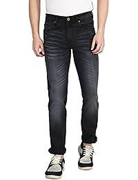 Raa Jeans Mens Denim Slim Fit Acid Washed Jeans (DPR106D)