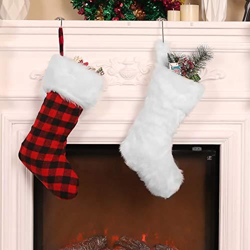20 Pulgadas de Medias de Navidad Calcetines Colgantes de Chimenea Bolsa de...