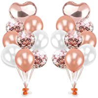 Prenine Decorativos Globos de Fiesta románticos, Bricolaje decoración de la Boda de Aluminio Globo de Confeti Bola de Aire para cumpleaños Baby Shower Eventos Regalos