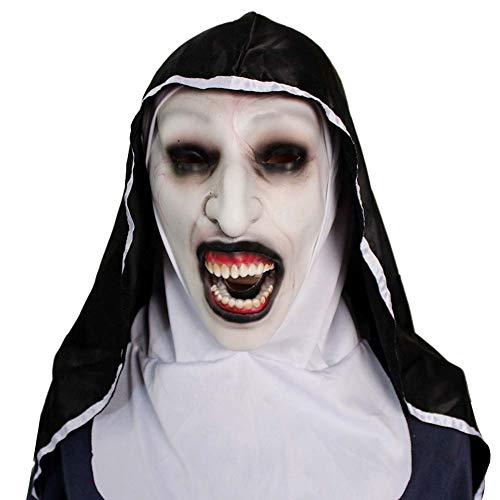 BRG315 Halloween Ghost Festival Horror Maske Überraschung Weiblicher Geist Gesichtsmaske Cosplay Maske Latex Beängstigend Voller Kopf, Umwelt Latex Material