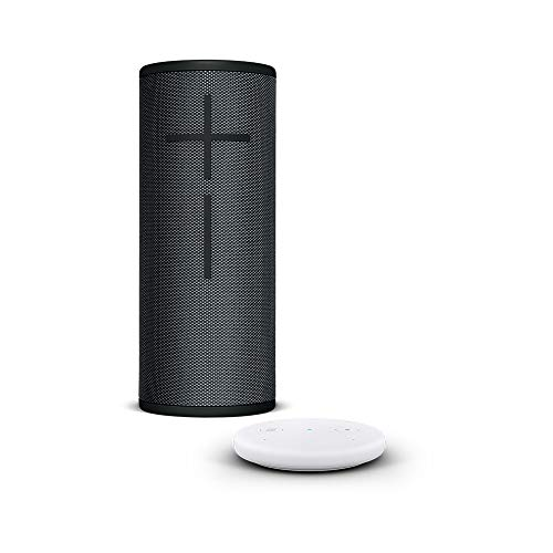 Amazon Echo Input, Weiß + Ultimate Ears BOOM 3 Bluetooth Lautsprecher, Mitternachtsschwarz