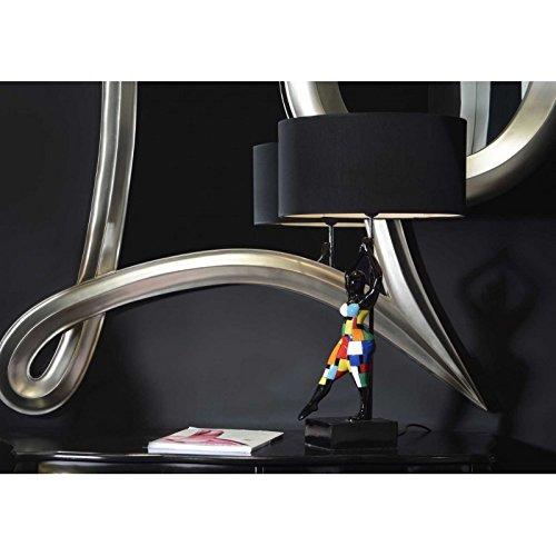Lampe femme allongée multicolore flowa