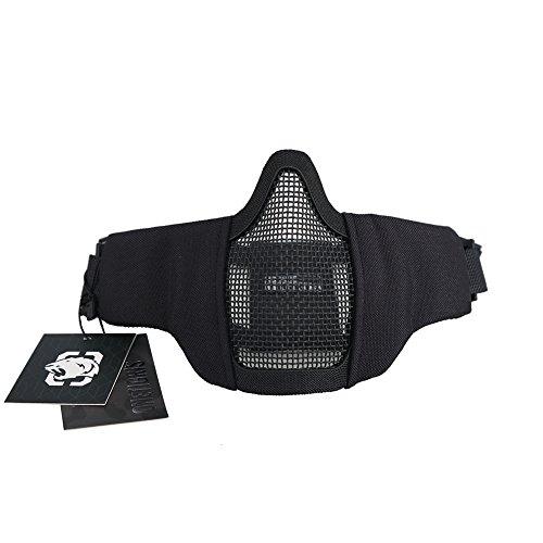 OneTigris Faltbare Halbe Gesichtsschutz Maske Mesh Maske für Softair Paintball CS (Stil Maske Hälfte Die)