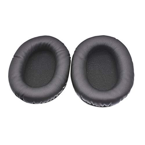 Deylaying Ersatz Ohrpolster Kissen Abdeckung für Kingston HyperX Cloud Stinger Gaming Headset Kopfhörer - Leder Ohr Pad Schaum Ohrenschützer 1 Paar(Schwarz) (Stinger-upgrade)