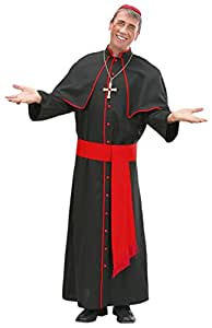 xL Cardinal Heavy Fabric Costume Extra Large for Holy Pope Vicar Priest Church Fancy Dress
