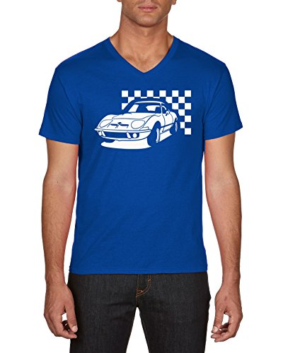 Touchlines Youngtimer Opel Gt, T-Shirt Uomo Blu (Royal 09)