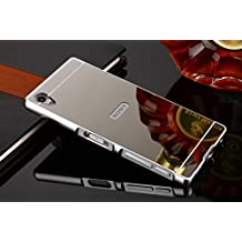 Funda Sony Xperia Z5 Premium , Carcasa Trasera Xperia Z5 Premium Aluminio y PC Efecto Espejo Funda Sony Xperia Z5 Premium Marco Bumper