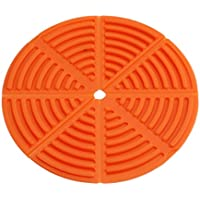 LnLyin Candy Farbe Isolierung Pad Falte Gepolsterte Silikon Anti Rutsch Matte Topf Bowl Coaster
