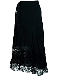 Guru-Shop Goa Wickelrock, Hippie Rock, Damen, Braun, Baumwolle, Size One  Size, Lange Röcke Alternative… 6ce7437521