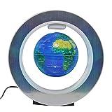 Magnetisch Levitation Schwimmend Globus Drehen mit LED Leuchten Weltkarte - Anti Schwerkraft Globus für pädagogisches Geschenk – Zuhause Büro Klassenzimmer Schreibtisch Dekoration - 4 Zoll