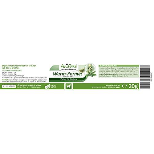 AniForte Welpen Wurm-Formel 20 g – Naturprodukt speziell für Welpen ab der 6. Woche - 3