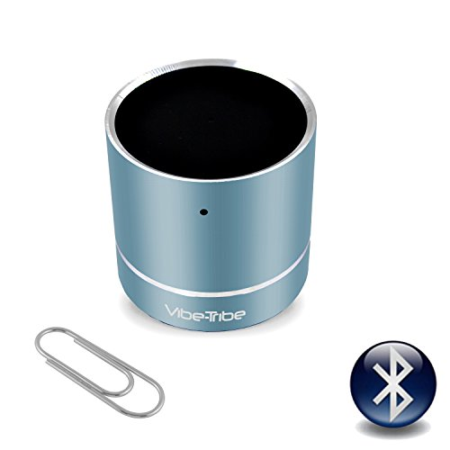 vibe-tribe–Troll Mini Tiffany Blau: Die Ultrakompakte Vibration Lautsprecher, 3Watt, mit Bluetooth und Hände frei.