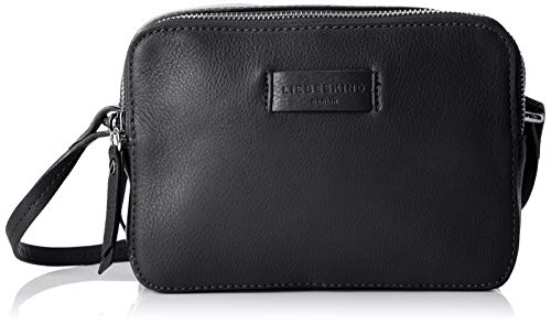Liebeskind Berlin Damen Essential Camera Bag Small Umhängetasche, Schwarz (Black), 7x14x20 cm