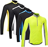 Tenn-Outdoors Mens Coolflo Breathable Long Sleeved Cycling Jersey