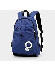 Moda CengBao mochilas escolares masculinos hombros paquete deportivo High School secundaria los estudiantes coreanos impermeable mochila individualidad femenina, azul real (normal)